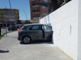 Car embedded in Almoradí Sports Centre