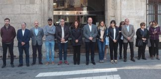 Orihuela silence in memory of Quesada death
