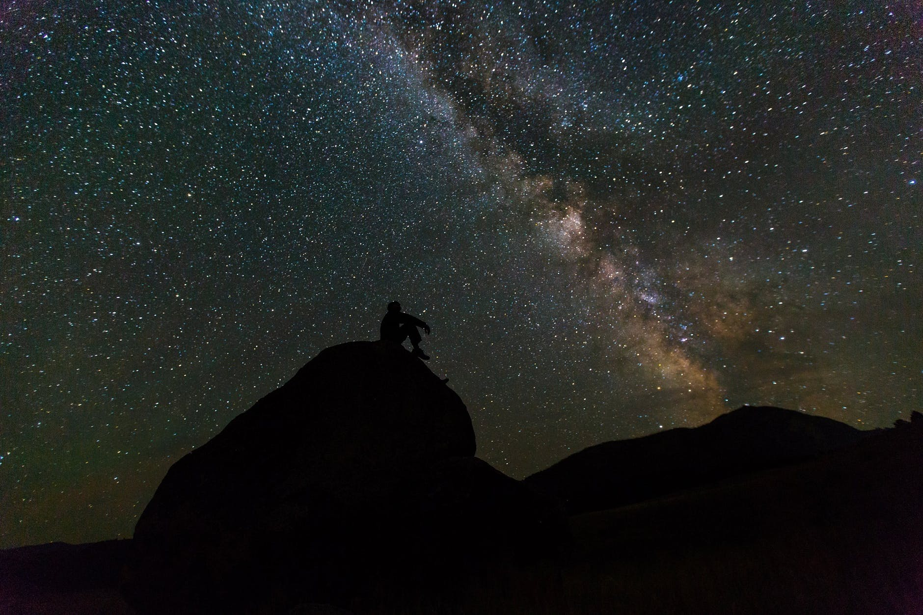 Once you're there at night, you can lay down together and look at the stars and gaze into the infinity of space together.