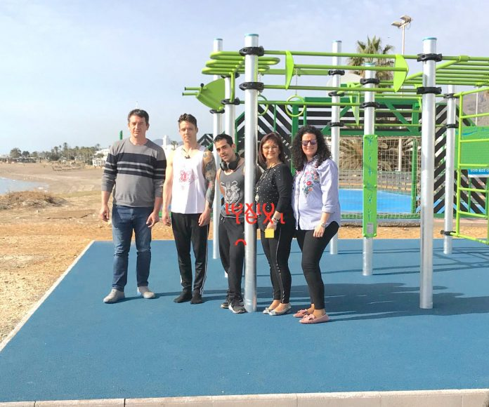 MOJÁCAR ADDS A NEW ´CALISTREETNIA' STREET WORKOUT PARK TO ITS SPORTS FACILITIES