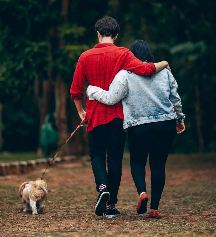 A nature walk is perhaps the most classic and timeless of all outdoor couple activities