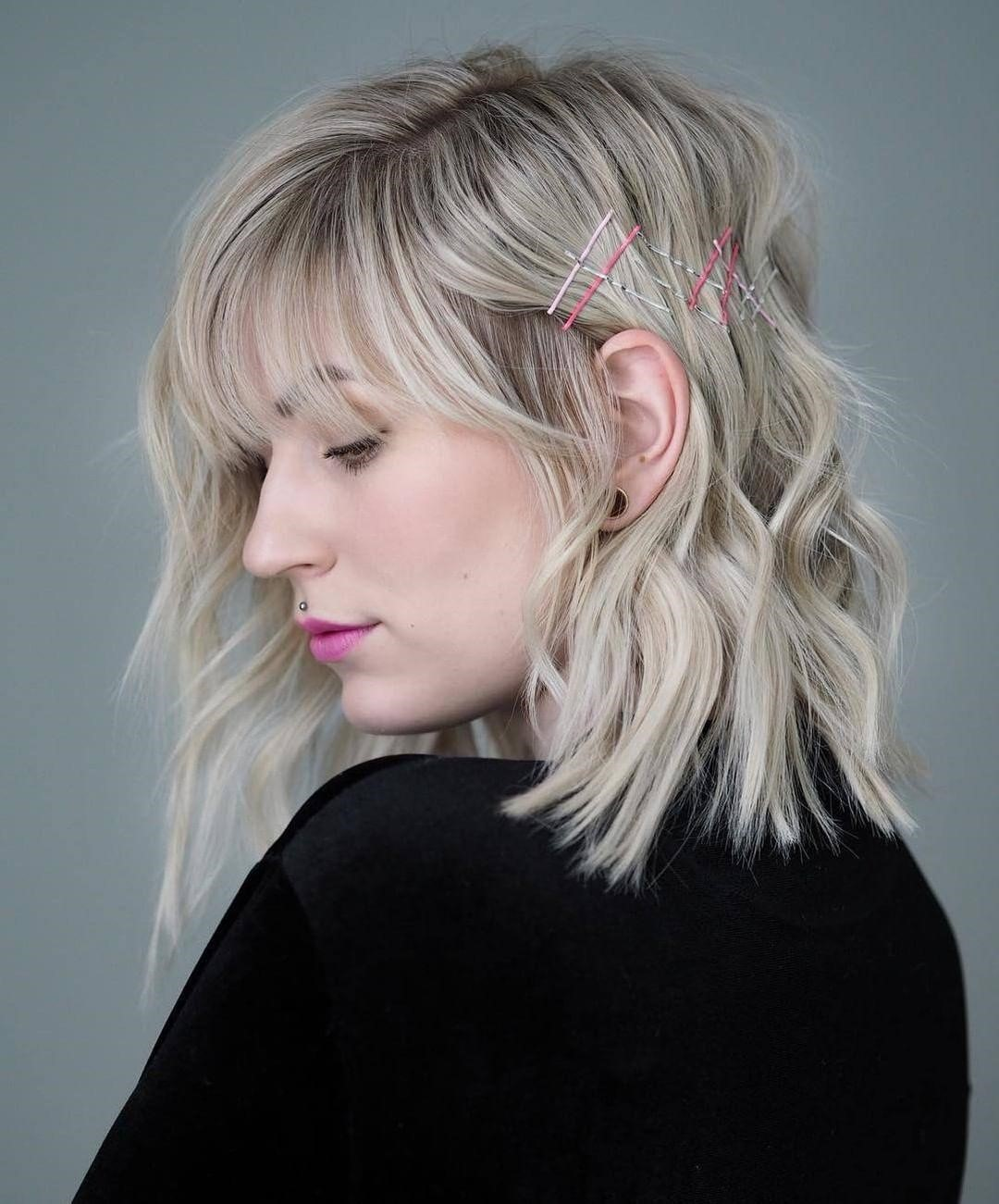 12 amazing medium hairstyles with side bangs in 2019  the