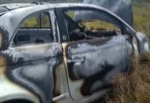 Car burst into flames by Los Montesinos roundabout