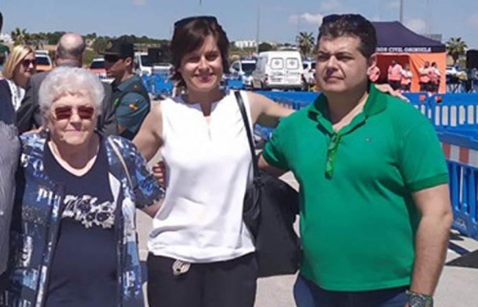 Fermin with Ann Hadley and Cllr Luisa Bone, both members of Ciudadanos