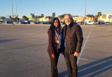 Helene with the President of La Zenia Citizens Movement Felix Arenas