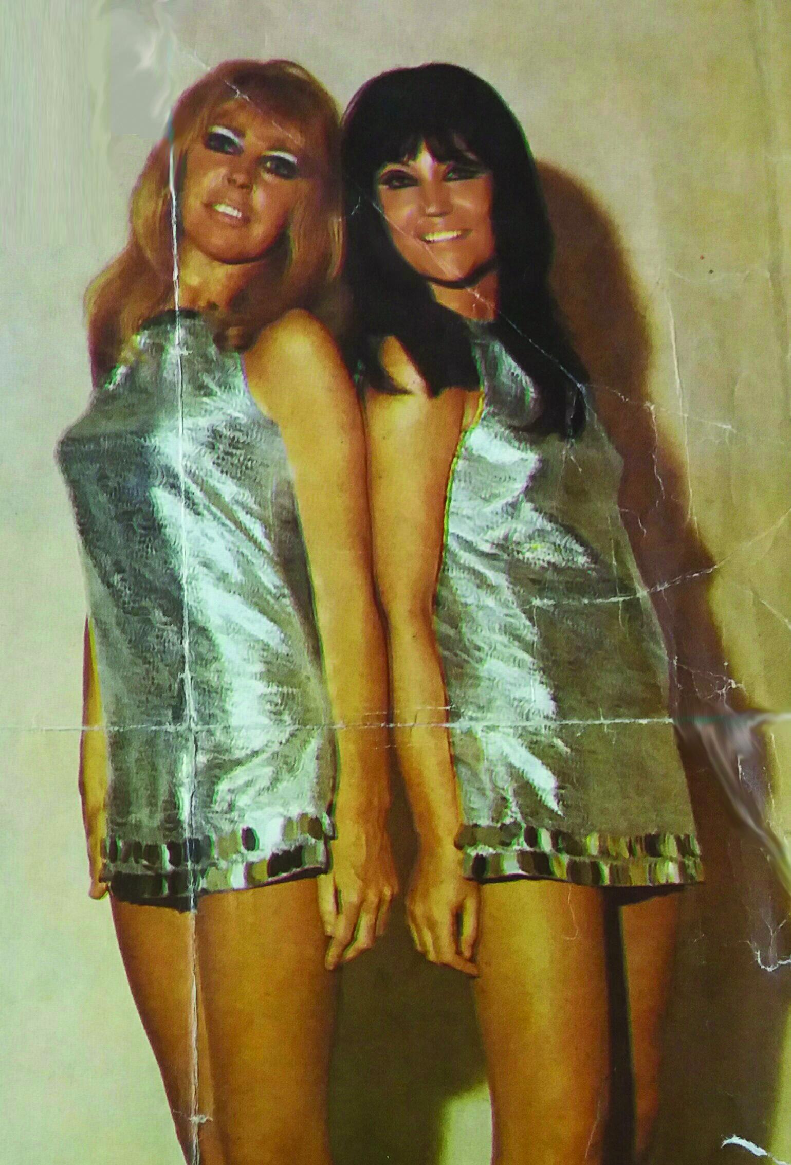 *Singing duet 'The Debutants' Norma and friend Debbie in Beirut.