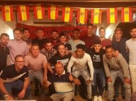CD Montesinos players and staff at the 2018-19 Player of the Year awards dinner.