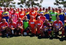 The 2019 Los Montesinos walking football tournament teams, Monte Mentals A and B, AFC Blackpool senior Seasiders, Hondon and Entre Naranjos.