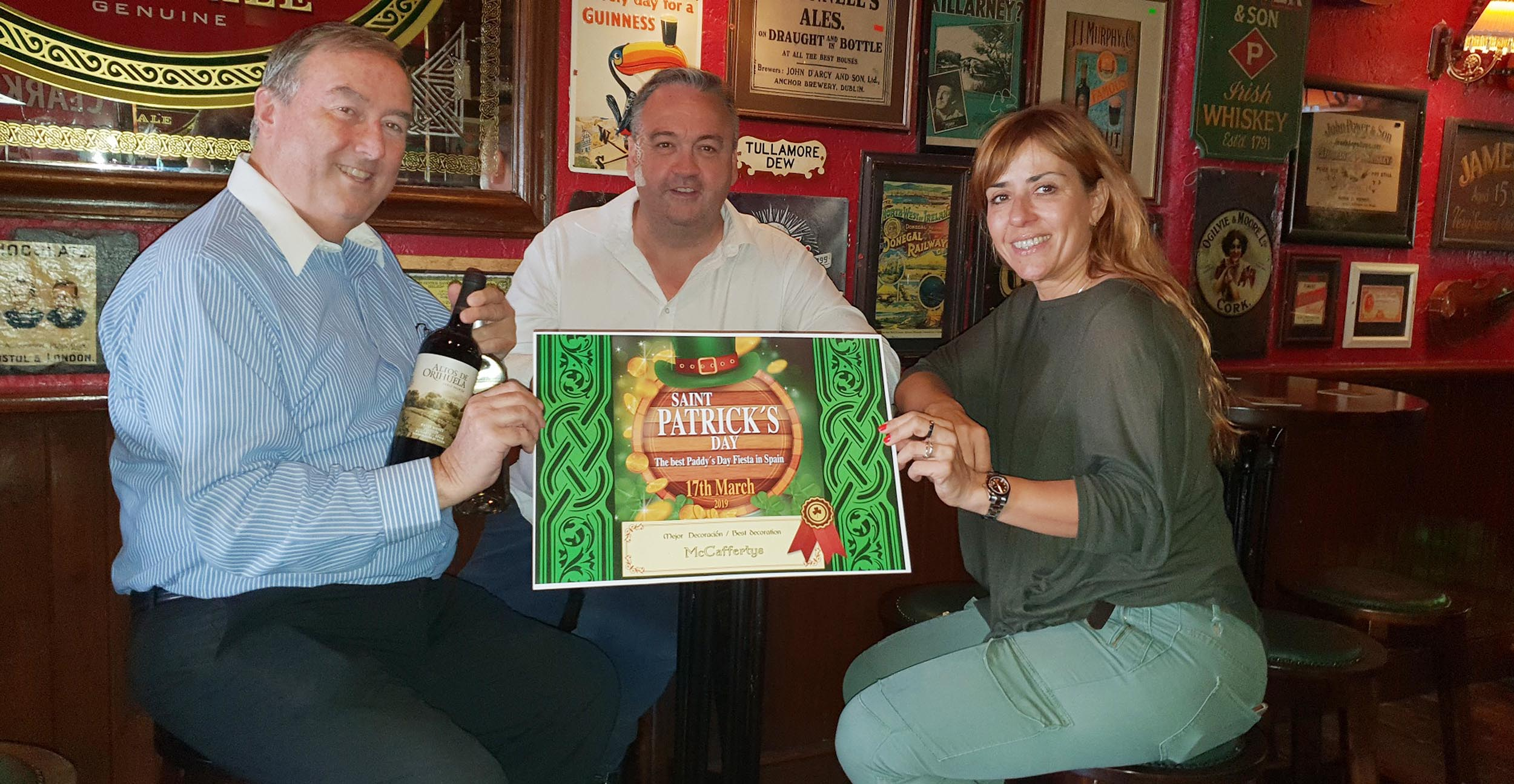 "The ""Best Decorated Irish Pub"" was McCaffertys."