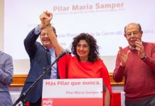 PSOE candidate for mayor in Pilar de la Horadada, Pilar Samper with Community President Ximo Puig