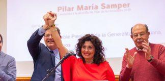 PSOE candidate for mayor in Pilar de la Horadada, Pilar Samper with Community President Ximo Puig