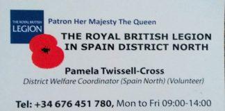 The Royal British Legion in Spain North
