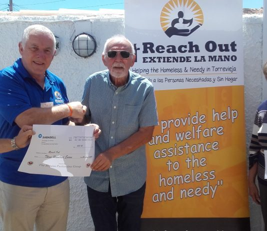 'REACH OUT' receives a donation of 300€
