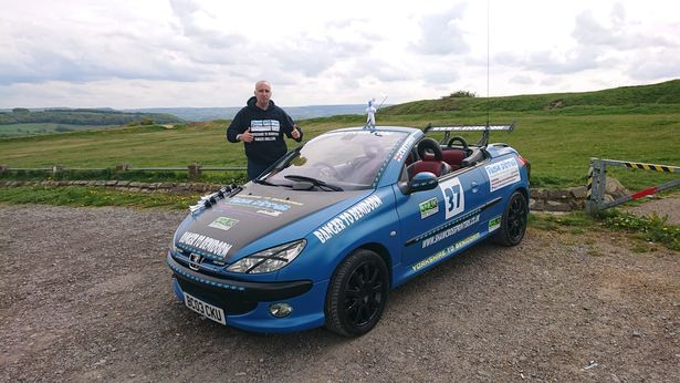 Ricky Zamir is driving to Benidorm in this £400 car to raise money for his friend's husband's cancer battle