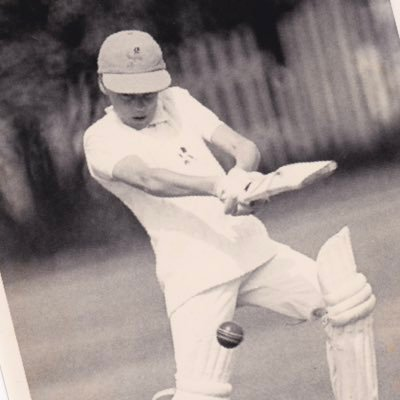'Freddie' Flintoff at the wicket during his youth.