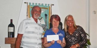 Las Salinas Lodge donate two thousand euros to DEBRA charity. (the butterfly children)