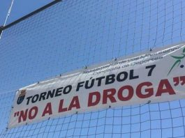 Los Montesinos - flying the flag - in the XIX 'Say No To Drugs' football tournament.