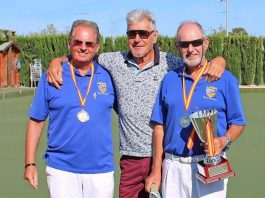 Peter Morgan and Terry Morgan - winners of the Mens Pairs in the Spanish Nationals Competition