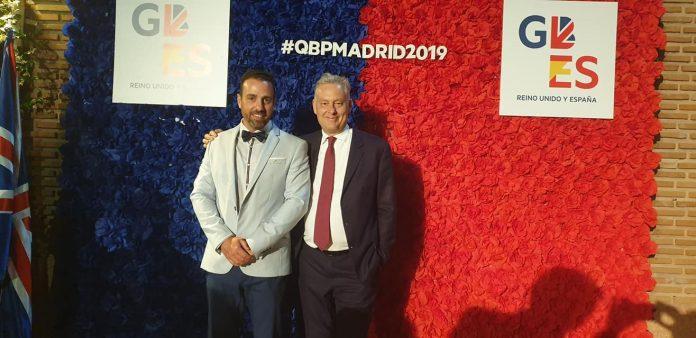 Francisco with the British Ambassador, Simon Manley