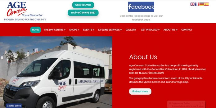 New website for Age Concern Costa Blanca
