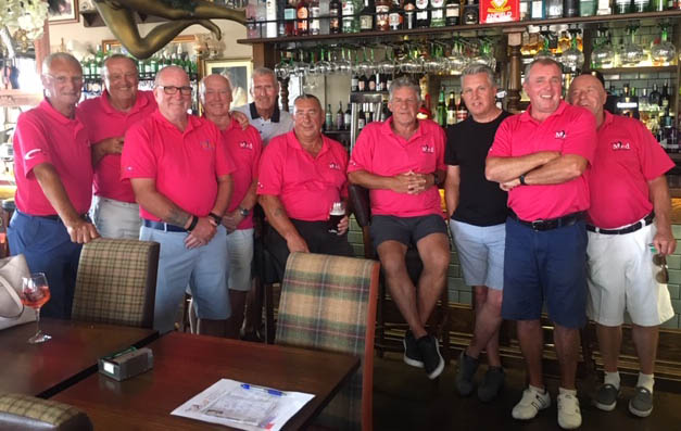 The Med Bar golf society. Player of the year 11/6/19