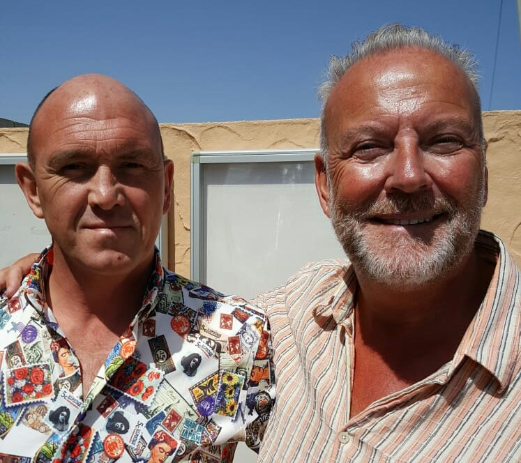 Martin Roland Hamilton (left) with reporter Andrew Atkinson.