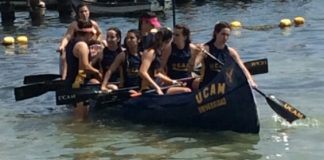 UCAM in action in the XX edition of the Inter Universities Regatta. Photo: John Atkinson.