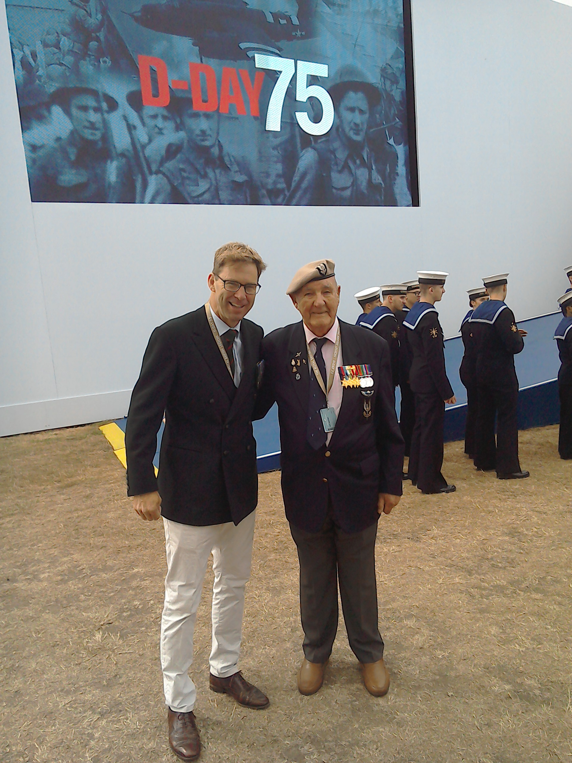 Joe with Tobias Ellwood, MP, the Under Secretary of State for Defence
