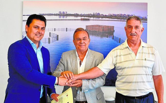 José Miguel Luengo, counselor Valverde and José Luis Pascual