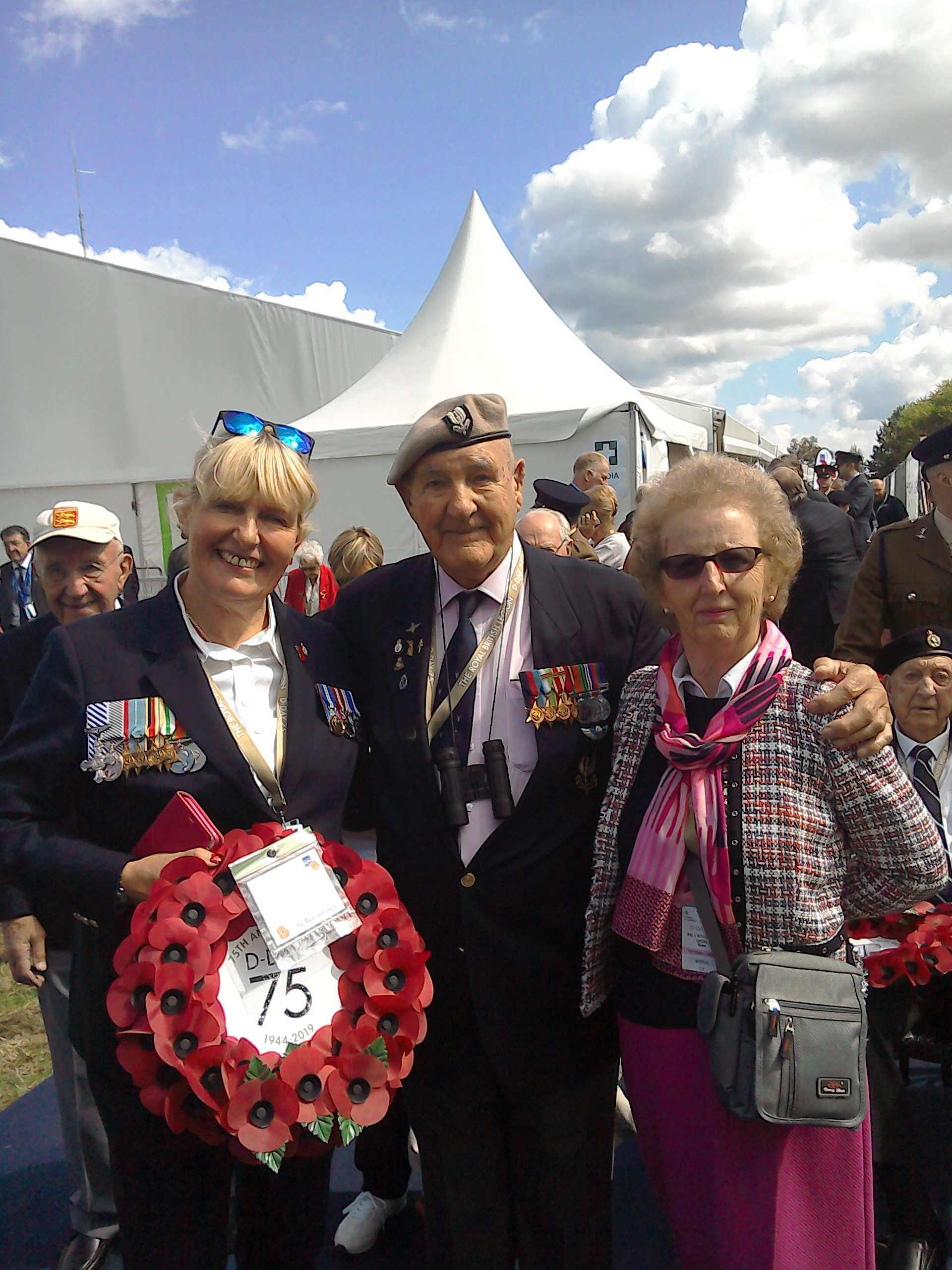Prior to the wreath laying at the Sword Beach memorial