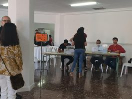 The voting table in Campoamor
