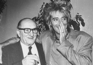 Rod Stewart with his late father Bob.