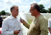 Atkinson with Sir Geoff Hurst