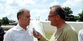 Atkinson with Sir Geoff Hurst