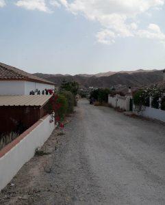 Calle Zoraida in Arboleas, a development promoted by Mr. Condrey.