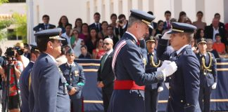 King Felipe presides over Passing Out Parade at Air Academy