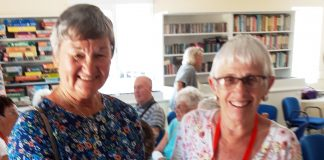 PEACOCKS DONATE TO AGE CONCERN