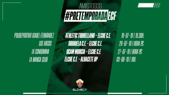 Elche back into training on Thursday