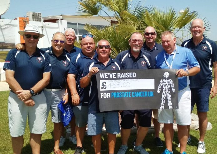 Prostate Cancer Charity Day 29th June, SMGS Team donating €455 Raised by the members