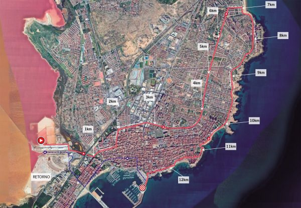 The time trial route in Torrevieja