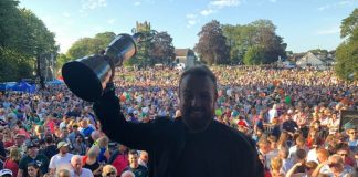 Shane Lowry's homecoming — feeling proud in Clara, Offaly, Ireland.