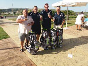 Winning team; Micky, Robin, Phil & Norman