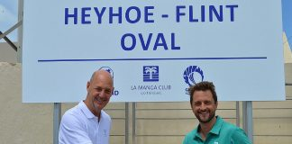 La Manga Club GM Nick Montgomery (left) with Ben Flint