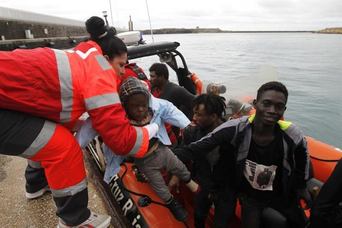 The Spanish Red Cross offloading immigrants in Cabo Roig earlier this year