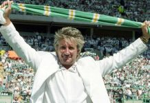 Celtic fan Rod Stewart