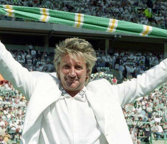 Celtic fan Rod Stewart