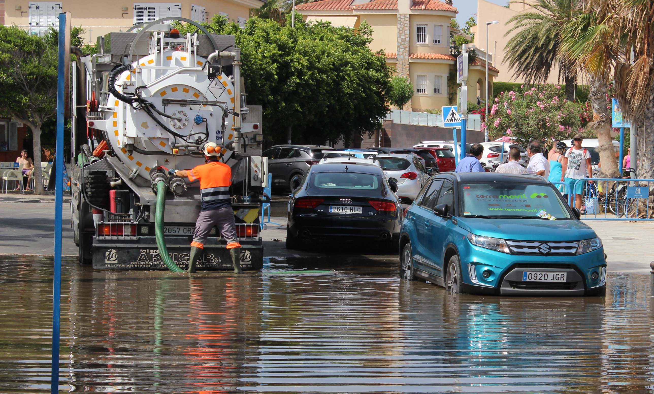 At La Zenia beach the sewage was almost 12 inches deep,