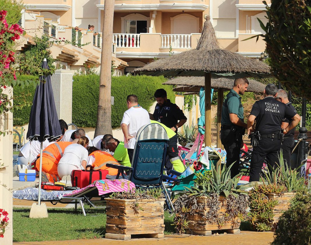The emergency staff on hand, worked for over two hours by the side of the pool before they were able to stabilise the young child.
