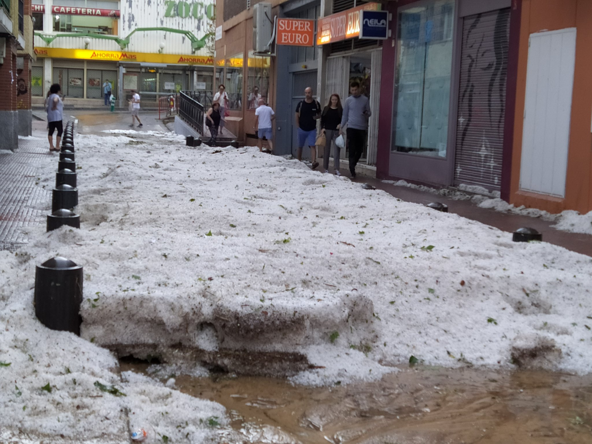 """The hail storm started at about six and lasted for no more than ten minutes but it has been a disaster,"""