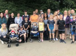 Members of Len Oliver's family at Blackpool Zoo, July 2019.